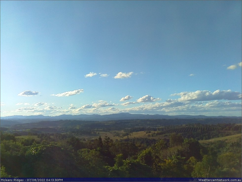 McLeans Ridges Weather Webcam facing north