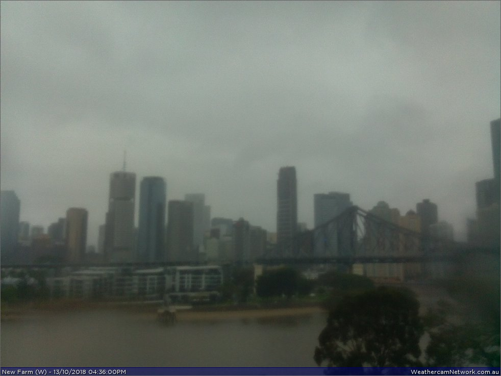 New Farm Webcam, East of Brisbane CBD, Australia, WebCam faces west towards the CBD